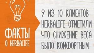 9 из 10 клиентов довольны результатами полученными с использованием продукции Herbalife